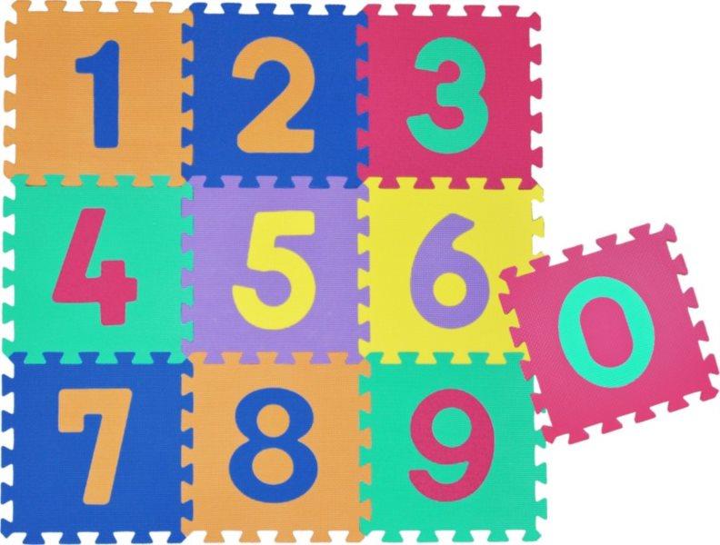 Pěnové puzzle - pěnový koberec, Čísla III (díl 30x30cm)
