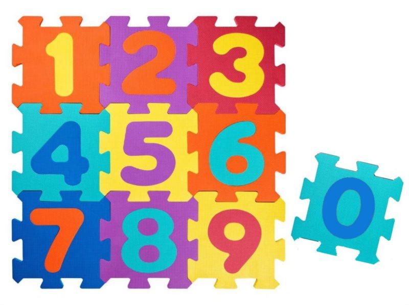 PLASTICA Pěnové puzzle Číslice (28,5x28,5)