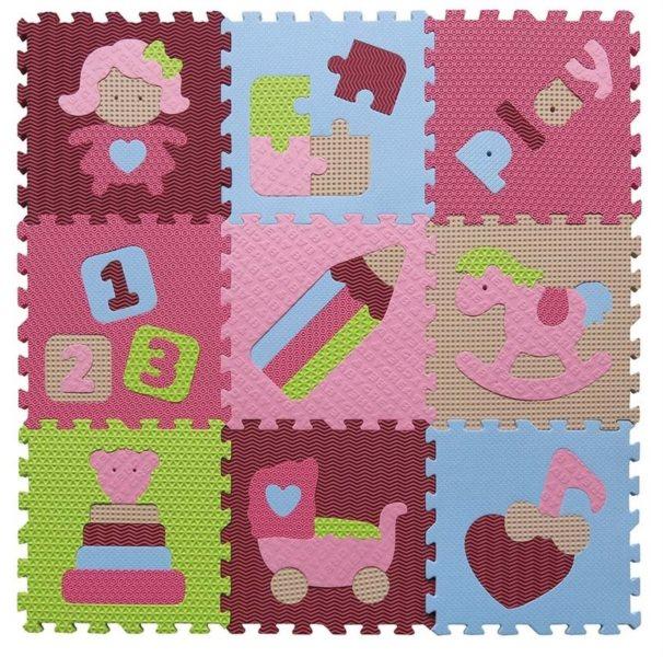 BABY GREAT Pěnové puzzle Holčičí hračky SX (30x30)