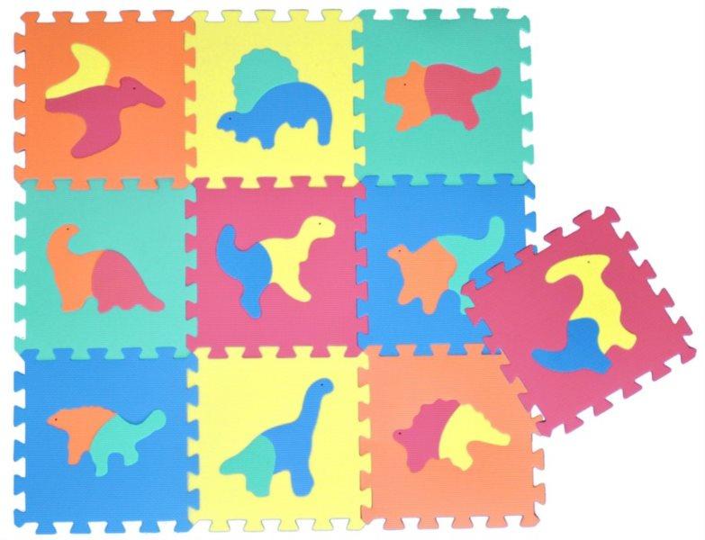 Pěnové puzzle, koberec - Dinosauři (díl 30x30cm)