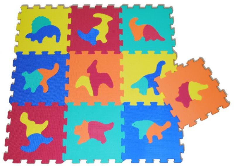 SUN TA TOYS Pěnové puzzle Dinosauři S4 (30x30), 5 barev