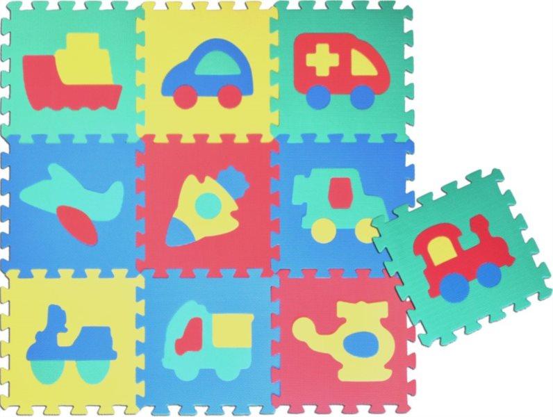Pěnové puzzle - pěnový koberec, Dopravní prostředky IV (díl 30x30cm)