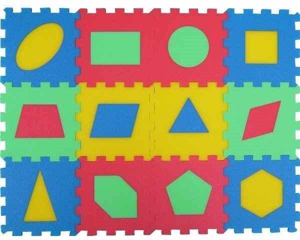 MALÝ GÉNIUS Pěnové puzzle Tvary (15x15) mix-4