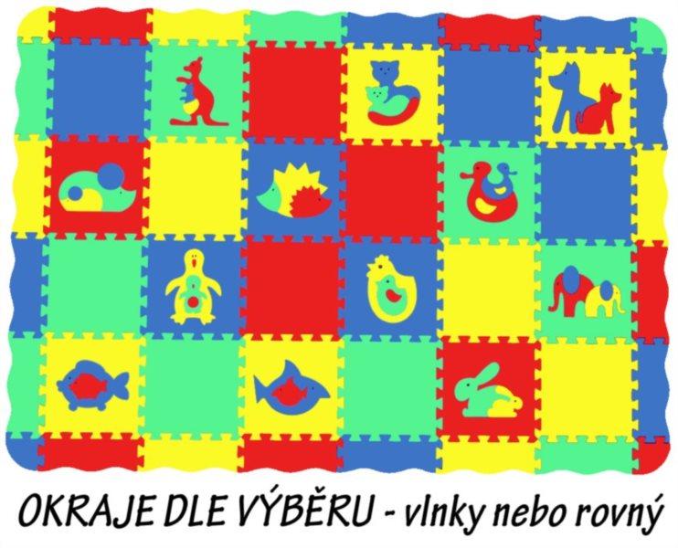 MALÝ GÉNIUS Pěnové puzzle koberec set I (8mm) mix-4