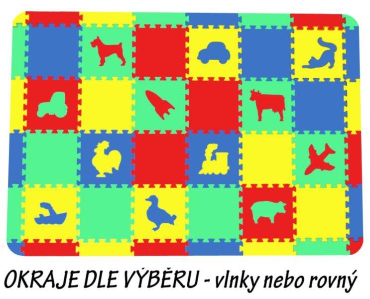 MALÝ GÉNIUS Pěnové puzzle koberec set II (8mm) mix-4