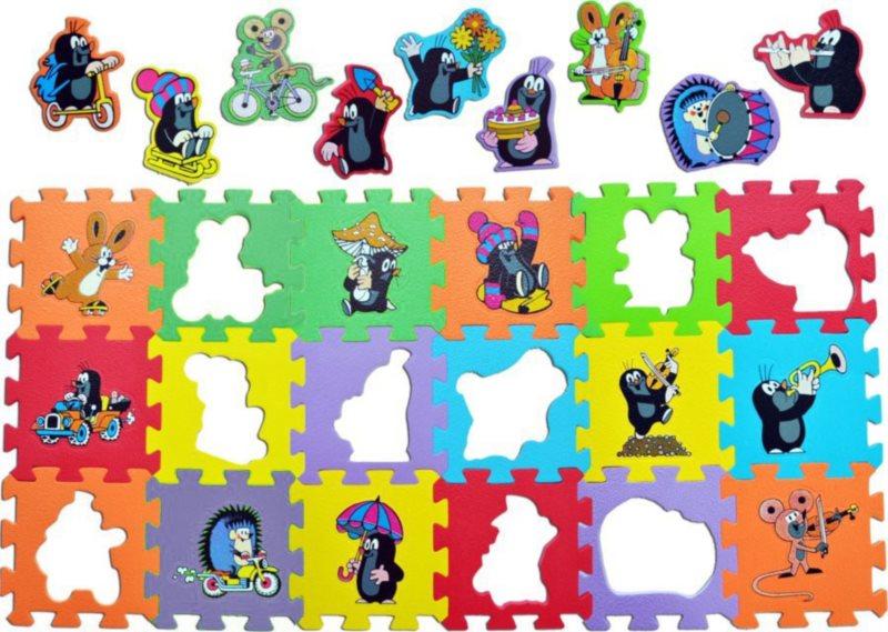 Pěnové puzzle Krtek (15x15)