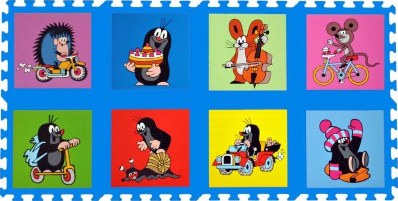 Pěnové puzzle, Krtek I modré (30x30)