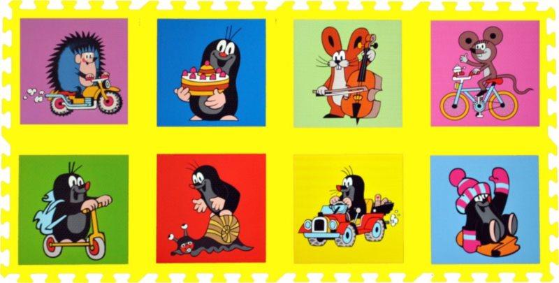 Pěnové puzzle, Krtek I žluté (30x30)
