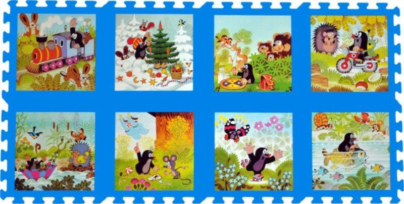 Pěnové puzzle, Krtek II modré (30x30)