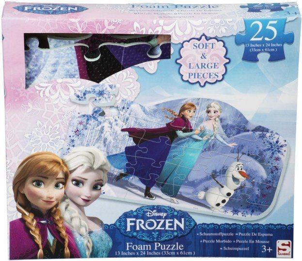 poškozený obal: Pěnové puzzle Ledové království 25 dílků