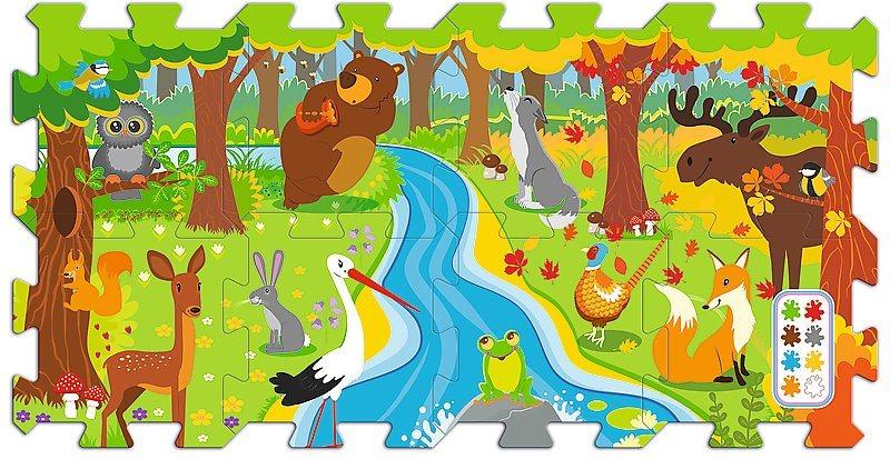TREFL Pěnové puzzle Les