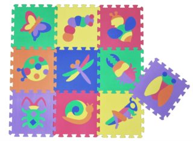 Pěnové puzzle Louka - hmyz (30x30)