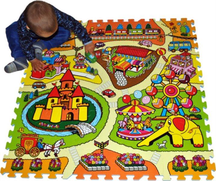 Pěnové puzzle - koberec s cestami Lunapark