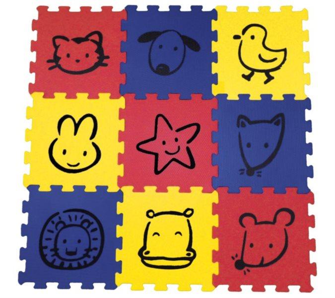 SUN TA TOYS Pěnové puzzle Malovaná zvířátka S4 (30x30)