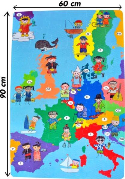 Pěnové podlahové puzzle, Mapa Evropy