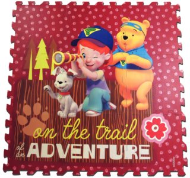 Pěnové puzzle Medvídek Pú na výpravě (díl 30x30cm), pěnový koberec