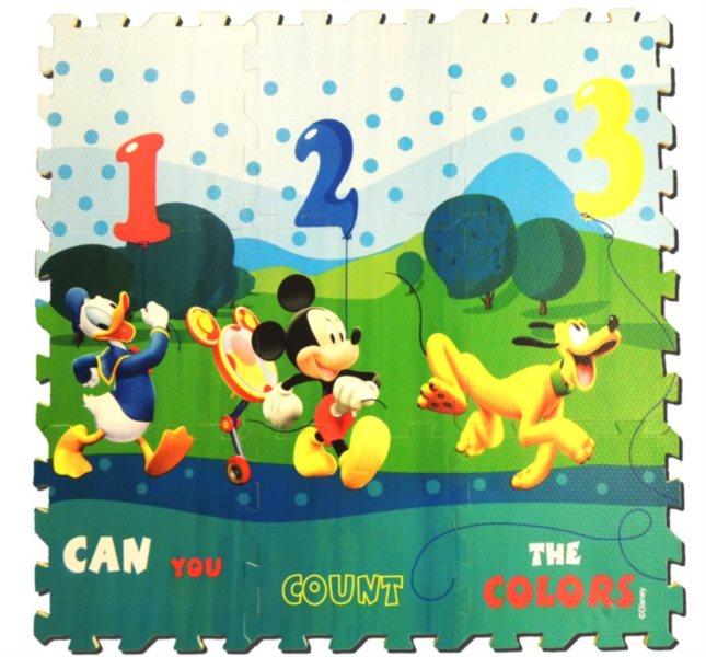 Pěnové puzzle Mickey Mouse (díl 30x30cm), pěnový koberec