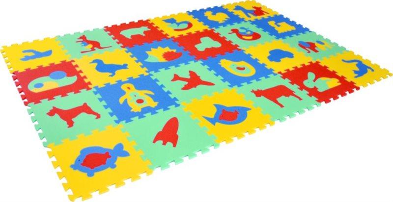 Pěnové puzzle, pěnový koberec MIX 30x30cm - MALÝ GÉNIUS