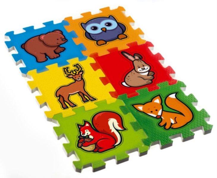 TEDDIES Pěnové puzzle Moje první lesní zvířátka (13,5x13,5)