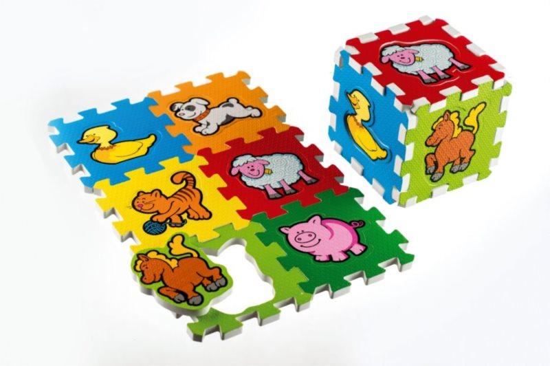 TEDDIES Pěnové puzzle Moje první zvířátka (13,5x13,5)