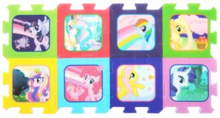 Pěnové puzzle My Little Pony - 8 dílů