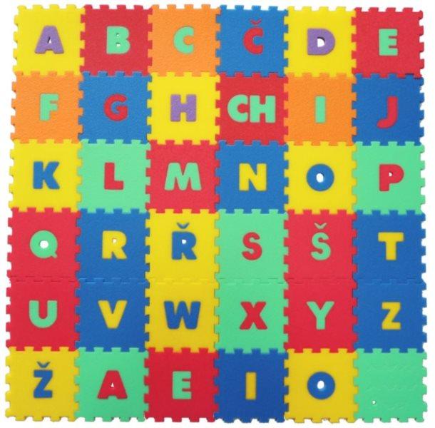 MALÝ GÉNIUS Pěnové puzzle Písmena (15x15)
