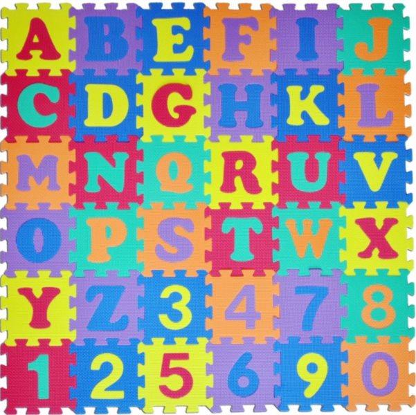 Pěnové puzzle, Písmena a čísla (díl 15x15cm)
