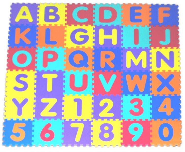 Pěnové puzzle Písmena a čísla (30x30)