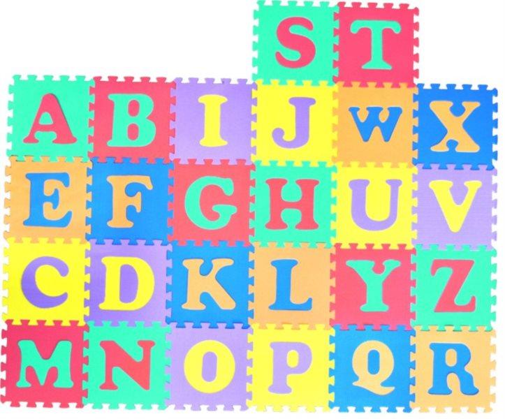 Pěnové puzzle - pěnový koberec, Písmena II (díl 30x30cm)