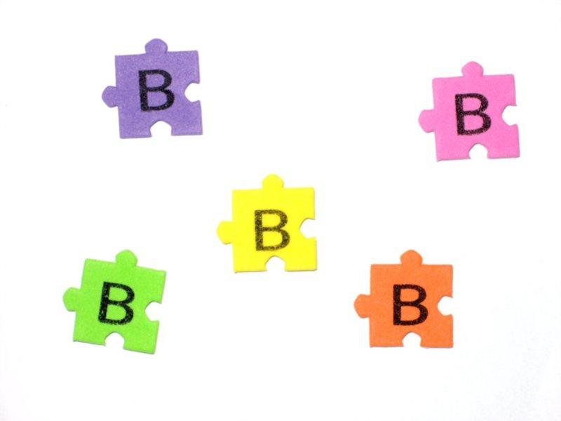 Pěnové puzzle písmenko B (2ks)