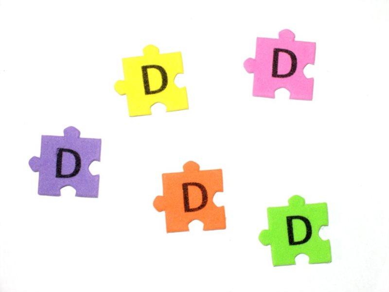 Pěnové puzzle písmenko D (2ks)