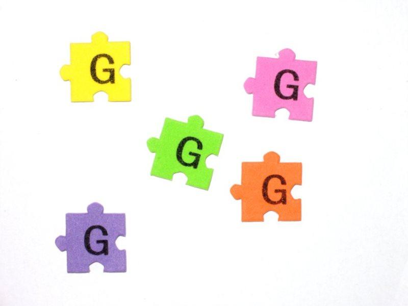 Pěnové puzzle písmenko G (2ks)