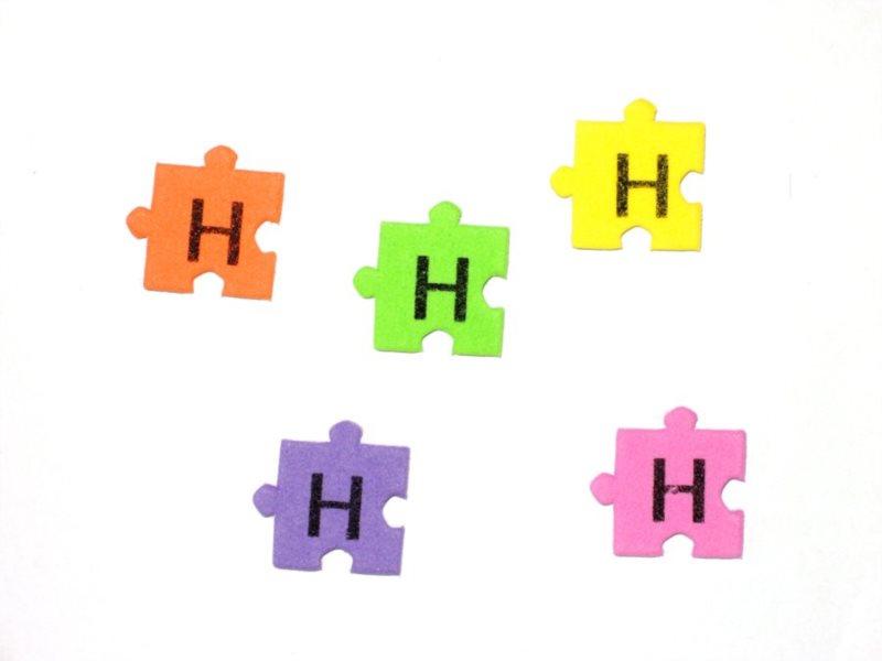 Pěnové puzzle písmenko H (2ks)