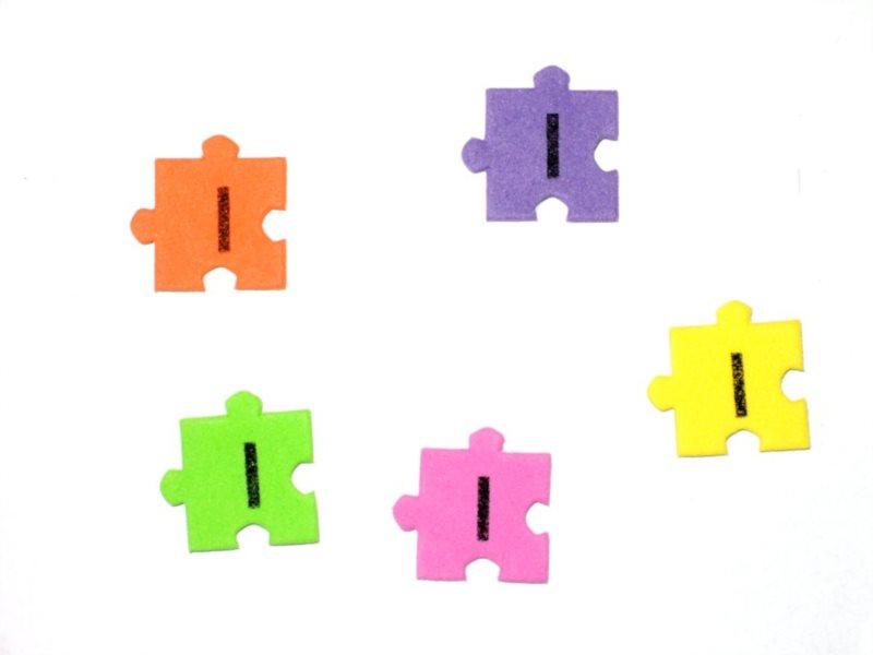 Pěnové puzzle písmenko I (2ks)