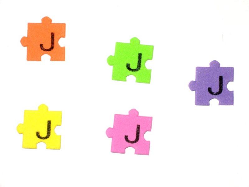 Pěnové puzzle písmenko J (2ks)