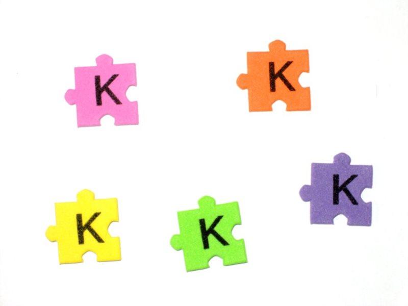 Pěnové puzzle písmenko K (2ks)