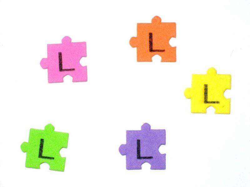 Pěnové puzzle písmenko L (2ks)