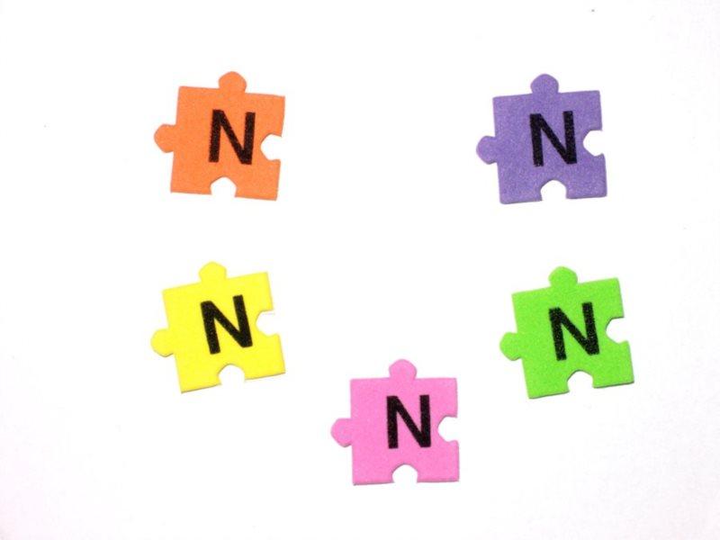 Pěnové puzzle písmenko N (2ks)
