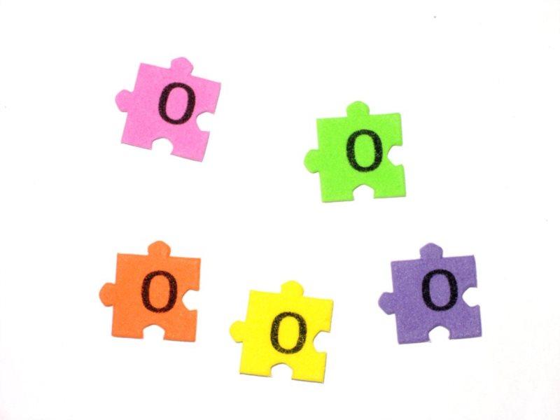 Pěnové puzzle písmenko O (2ks)