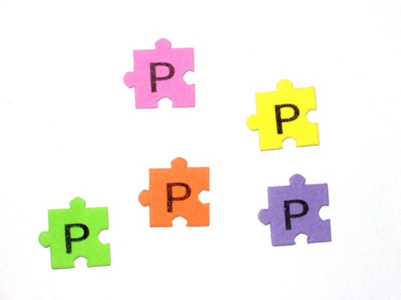 Pěnové puzzle písmenko P (2ks)