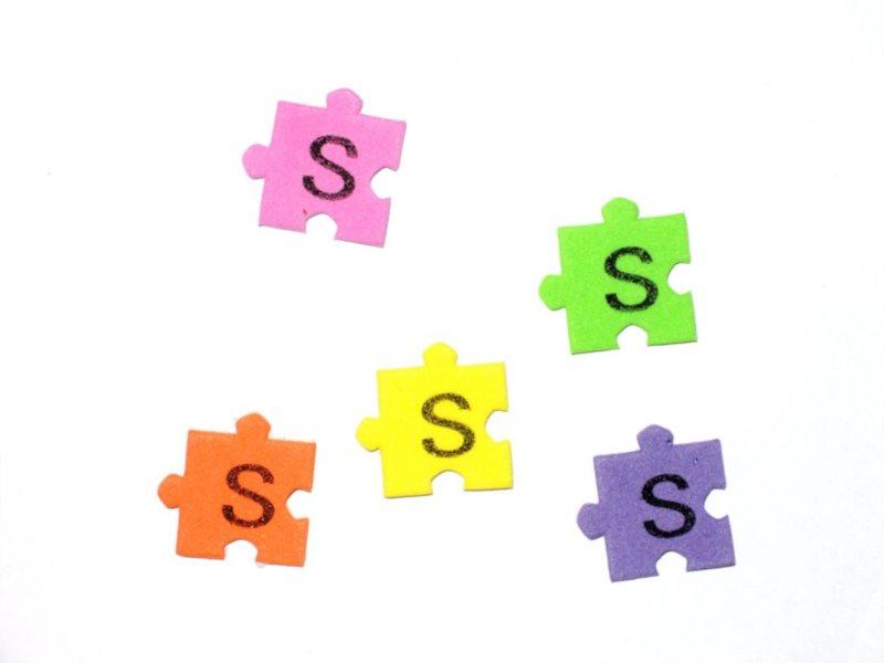 Pěnové puzzle písmenko S (2ks)