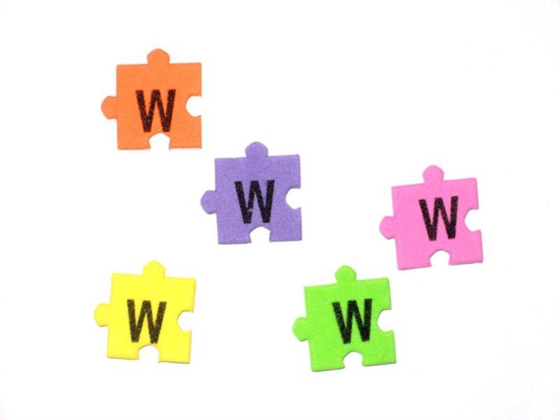 Pěnové puzzle písmenko W (2ks)