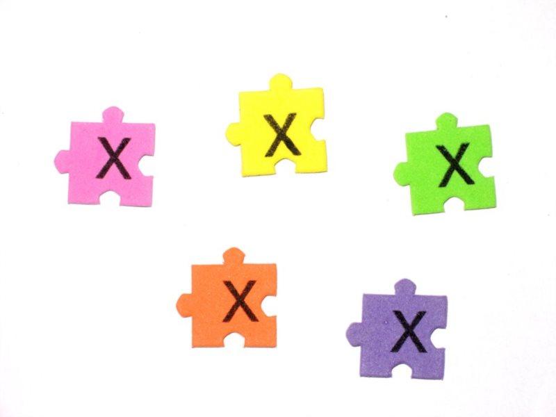 Pěnové puzzle písmenko X (2ks)