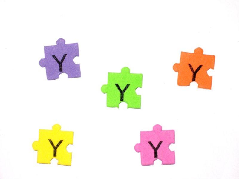 Pěnové puzzle písmenko Y (2ks)