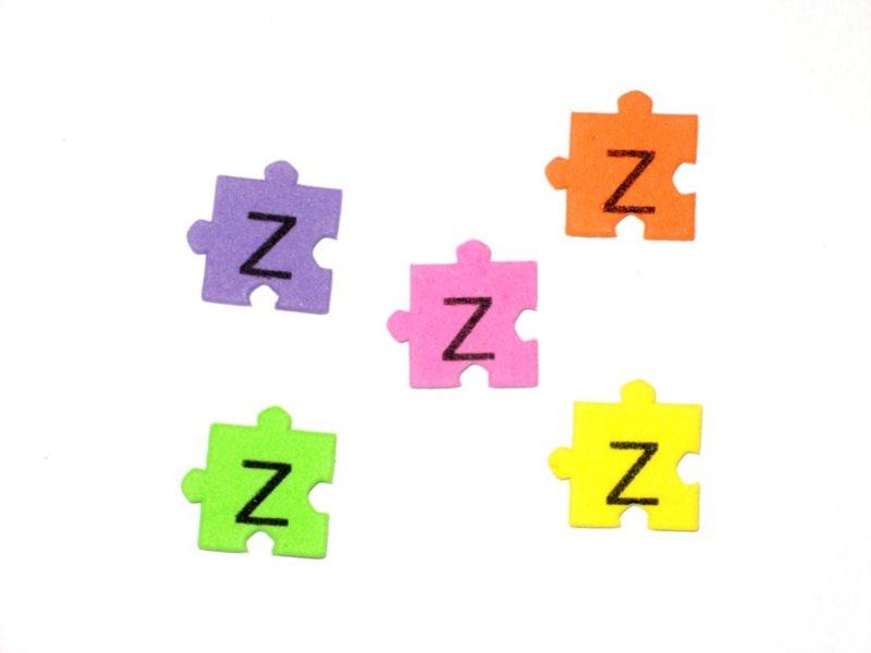 Pěnové puzzle písmenko Z (2ks)