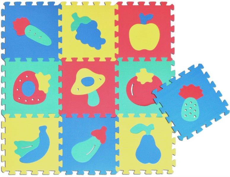 Pěnové puzzle - pěnový koberec, Plody II (díl 30x30cm)
