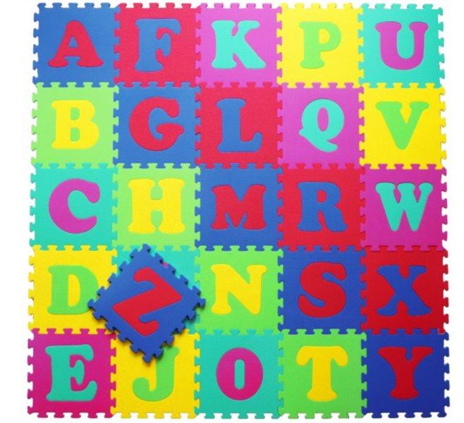 LC Pěnové puzzle silné Abeceda (30x30)