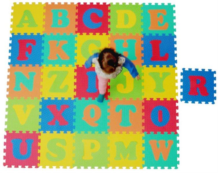 LC Pěnové puzzle struktura Abeceda (30x30)