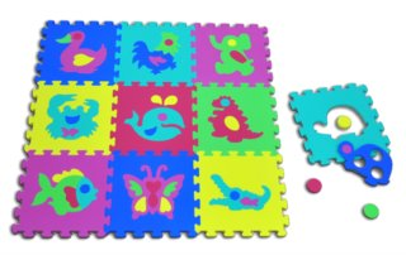 LC Pěnové puzzle silné Zvířata (30x30)
