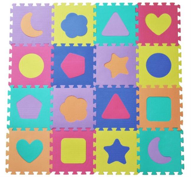 Pěnové puzzle - pěnový koberec - Tvary 16 (díl 30x30cm)